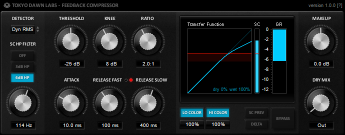 TDR Feedback Compressor screenshot