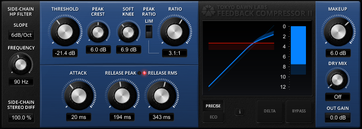 TDR Feedback Compressor II screenshot
