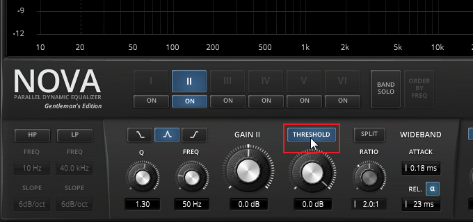 Enable EQ band compressor