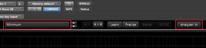 Minimum preset and analyzer in