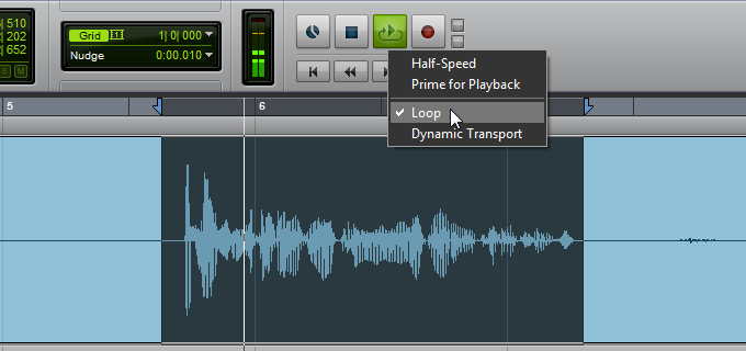 Waveform selection and loop playback