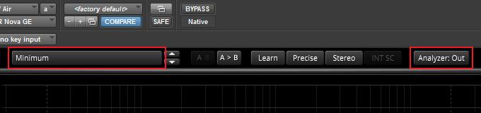 Minimum preset and analyzer out