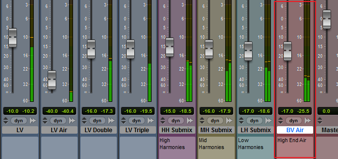 Vocal mix with parallel processing