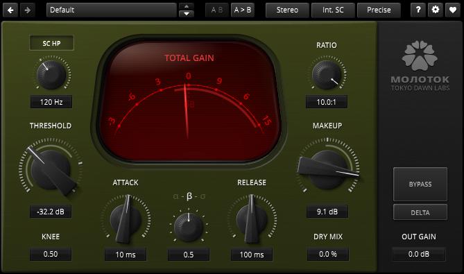 plugin gratis Tokyo Dawn Records Molotok compressor